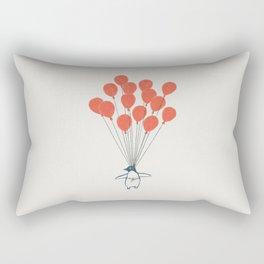 Penguin Balloons Rectangular Pillow