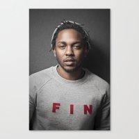 kendrick lamar Canvas Prints featuring Kendrick Lamar by Colin Douglas Gray