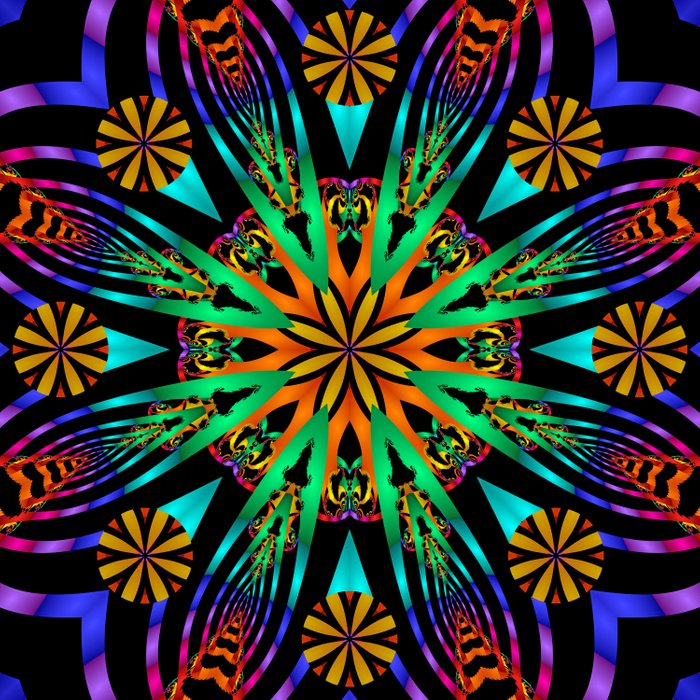 Colourful fantasy flower with tribal patterns Comforters