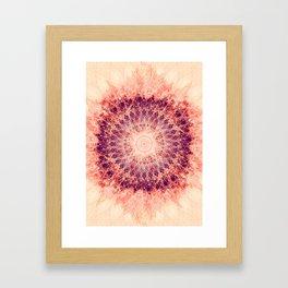 Apricot Mandala Framed Art Print