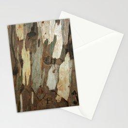 Eucalyptus Tree Exfoliating Bark Abstract Stationery Cards