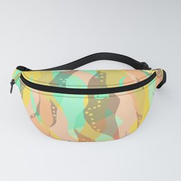 Life at the bottom of the ocean, abstract underwater print Fanny Pack