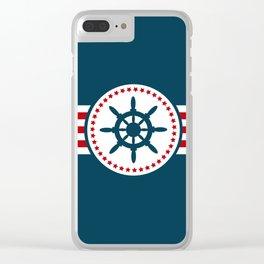Sailing wheel 2 Clear iPhone Case