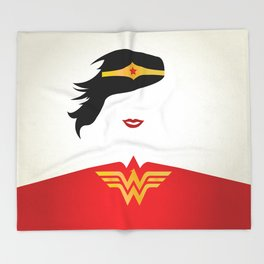 Wonder Girl Throw Blanket