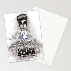 i don't like SOPA Stationery Cards
