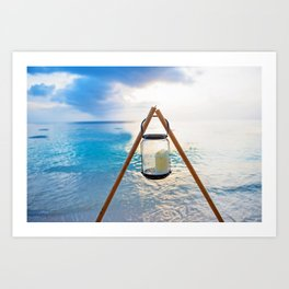 Beach Lantern Art Print