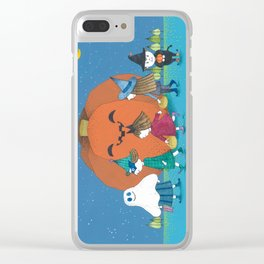 Halloween night Clear iPhone Case