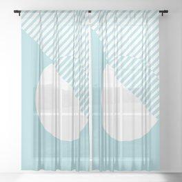 Island Paradise #pantone #color #decor Sheer Curtain