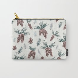 Gouache Pine Cones Carry-All Pouch