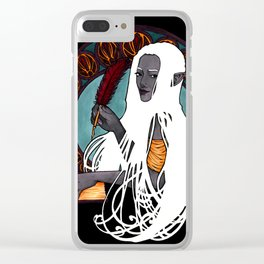 Evelyn the Historian Clear iPhone Case