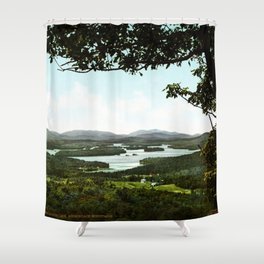 Lower Saranac Lake Adirondack Mountains New York 1902 Shower Curtain