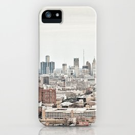 Downtown Detroit Skyline View from New Center iPhone Case