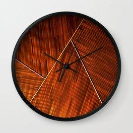Geometric Grain Wall Clock