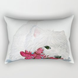 Tessie Westie Dog Rectangular Pillow