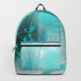 Geisha In Teal Backpack