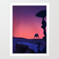 planet Art Prints featuring Planet by Matt Vince