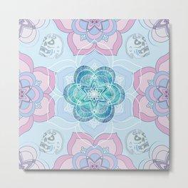 MANDARA flower Metal Print