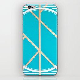 Leaf - circle/line graphic iPhone Skin