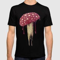 Mushroom Black LARGE Mens Fitted Tee