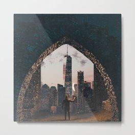 Portal to New York City Metal Print