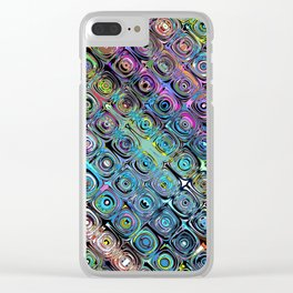 Abstract Spectral Circles Clear iPhone Case