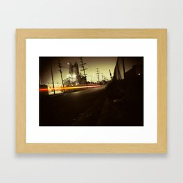 Night ride Framed Art Print