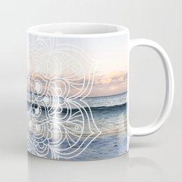 Flower shell mandala - shoreline Coffee Mug