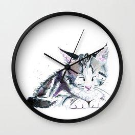 Ink Kitten Wall Clock