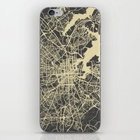 baltimore iPhone & iPod Skins featuring Baltimore map by Map Map Maps