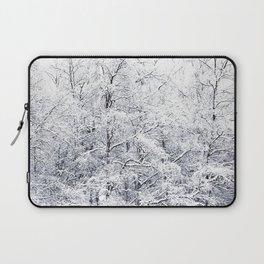 Winter is here - Snowy Birches Winter Scene #decor #society6 #buyart Laptop Sleeve