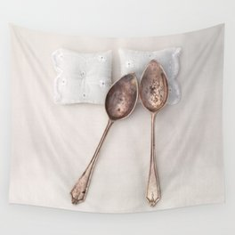 The Art of Spooning Wall Tapestry