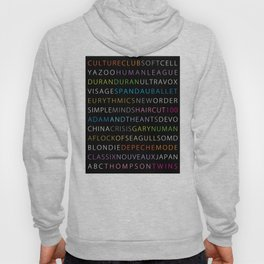 80's new wave band Hoody