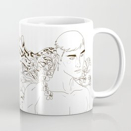 Man, Azalea, Ocelot Coffee Mug