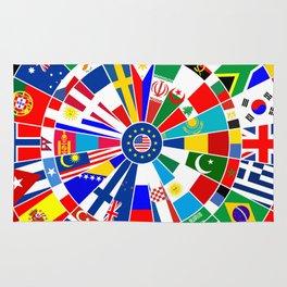 flags darts board Rug