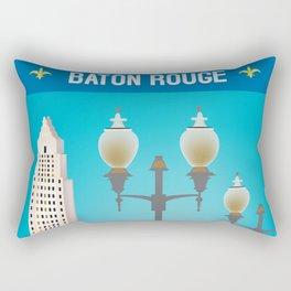 Baton Rouge, Louisiana - Skyline Illustration by Loose Petals Rectangular Pillow