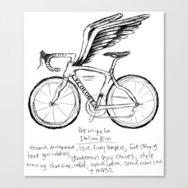 Live, Breathe, Bike Canvas Print
