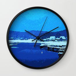 Winter at the Lake, Lake Hopatcong New Jersey Wall Clock