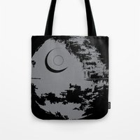 death star Tote Bags featuring Death Star by Krakenspirit