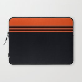 70s Orange Retro Striped Pattern Laptop Sleeve