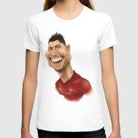 ronaldo T-shirts featuring C. Ronaldo - Portugal by Sant Toscanni