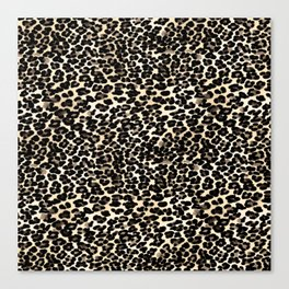 Small Brown and Black Leopard Print Canvas Print