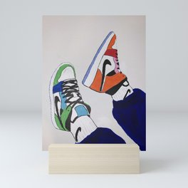 Sneaker Colorful Air Jordan 1's Mini Art Print
