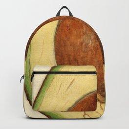 Vintage Illustration of an Avocado Backpack