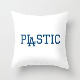 LA Plastic Typography Throw Pillow