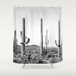 Grey Cactus Land Shower Curtain