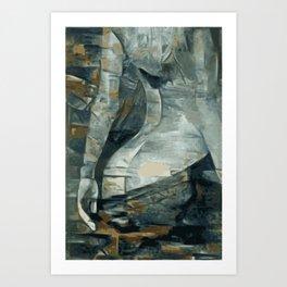 Cubed Rear Art Print