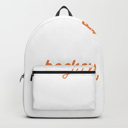 Just A Girl Who Loves Hockey Icehockey Player Backpack