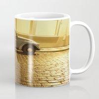 vw Mugs featuring VW Beetle by Maria Heyens