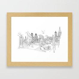London! Original landscape version Framed Art Print