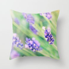 Summer flowers in pastel Throw Pillow